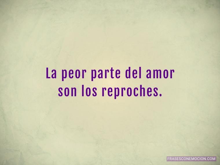 La peor parte del amor...