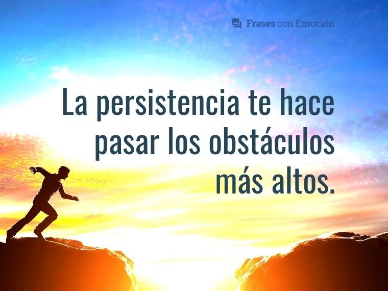 La persistencia...