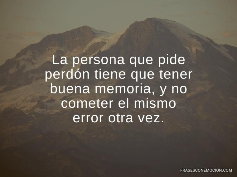 La persona que pide perdón...