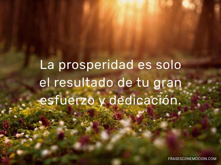 La prosperidad es...
