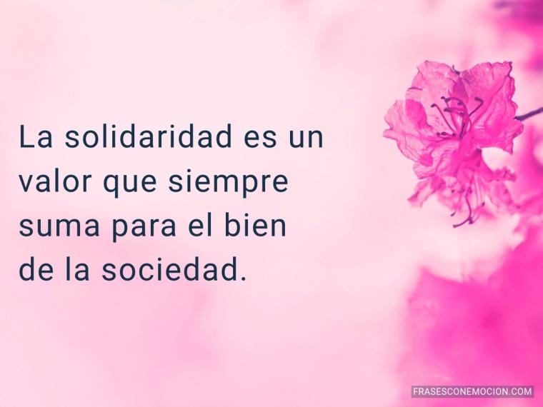 La solidaridad es un...
