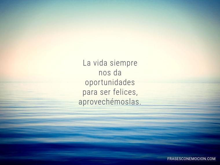 La vida siempre nos da...