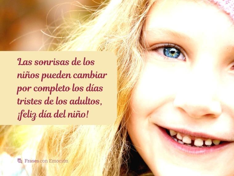Las sonrisas de los niños...