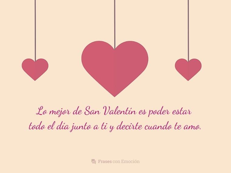 Lo mejor de San Valentín es...