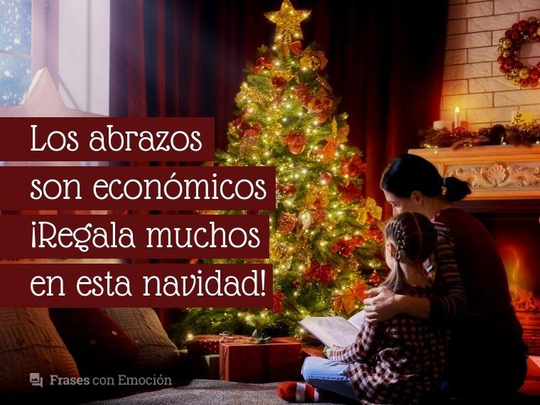 Los abrazos son económicos...