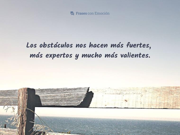 Los obstáculos...