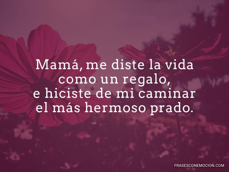 Mamá me diste la vida...