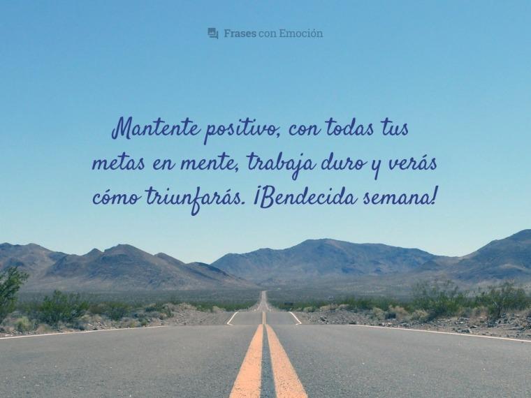 Mantente positivo...