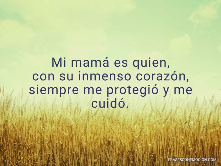 Mi mamá es quien...