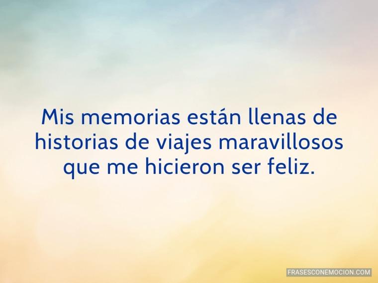Mis memorias están llenas...