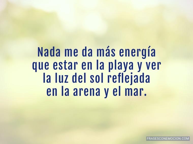 Nada me da más energía...