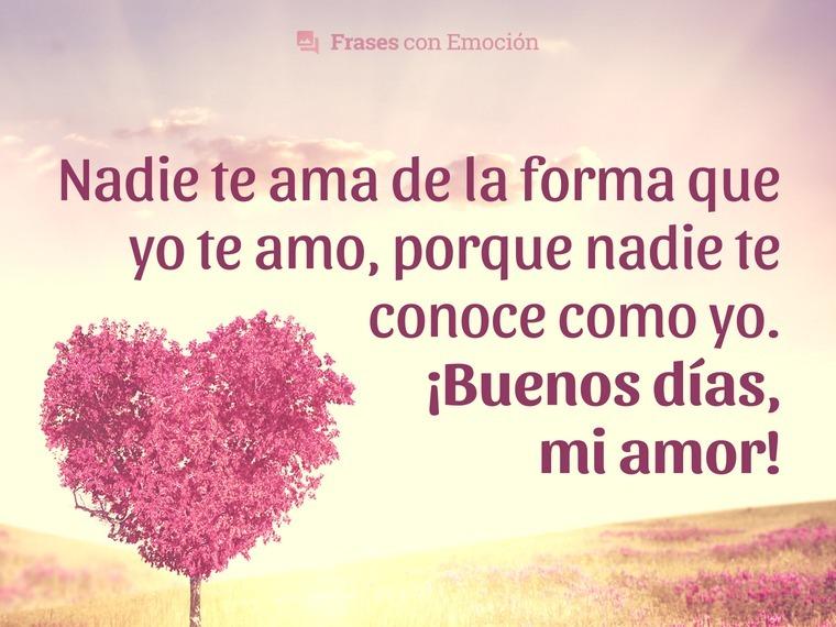 Frases De Buenos Días Amor Frases Con Emoción