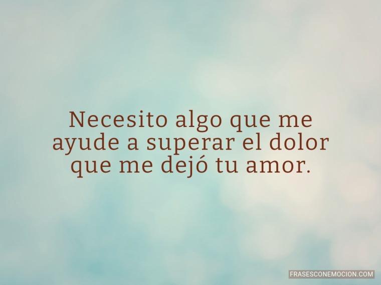 Necesito algo que me...