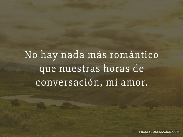 No hay nada más romántico...
