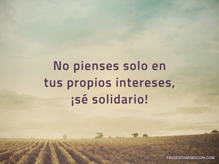 No pienses solo en...