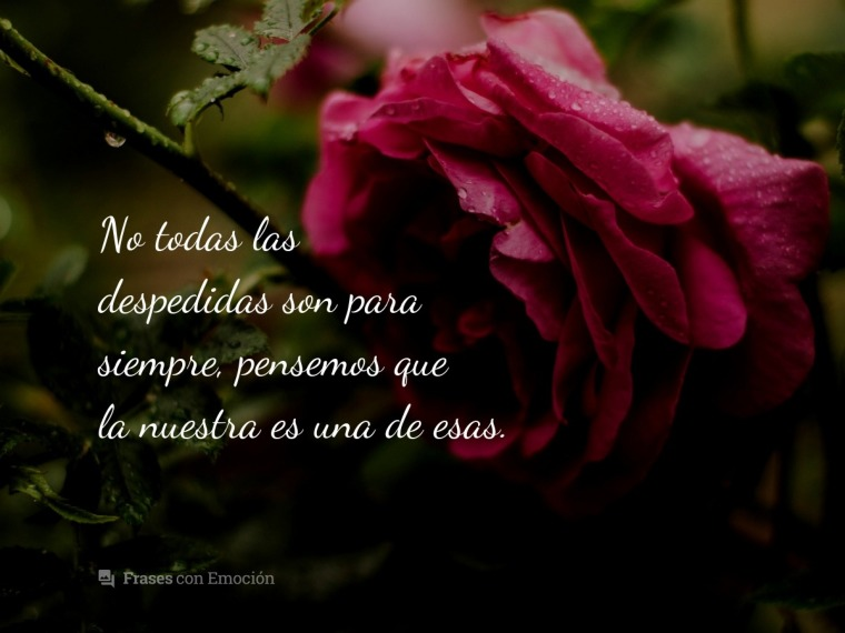No todas las despedidas son...