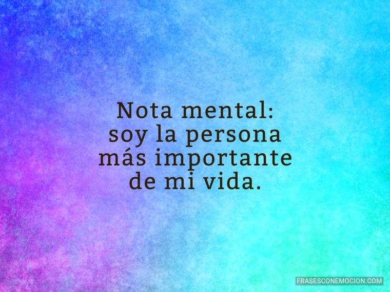 Nota mental...