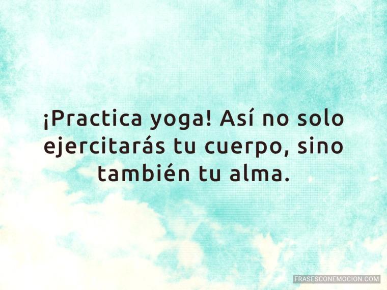 Practica yoga...
