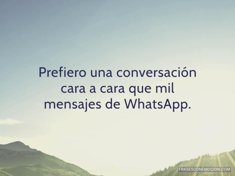 Prefiero una conversación...