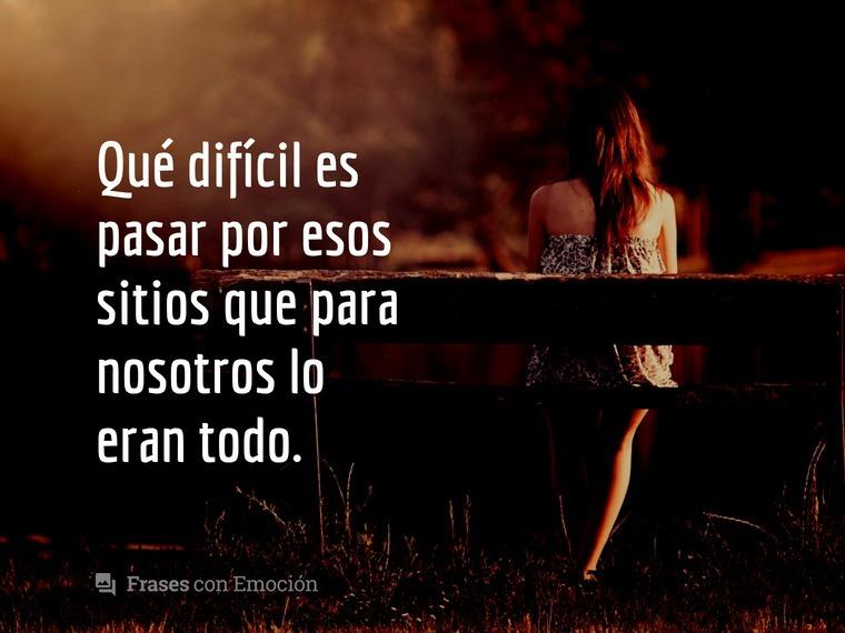 Qué difícil es...