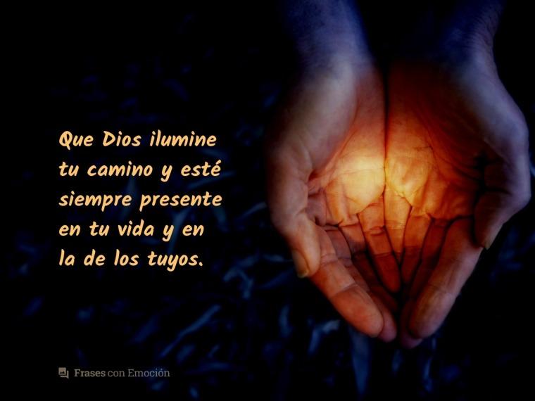 Que Dios ilumine tu vida...