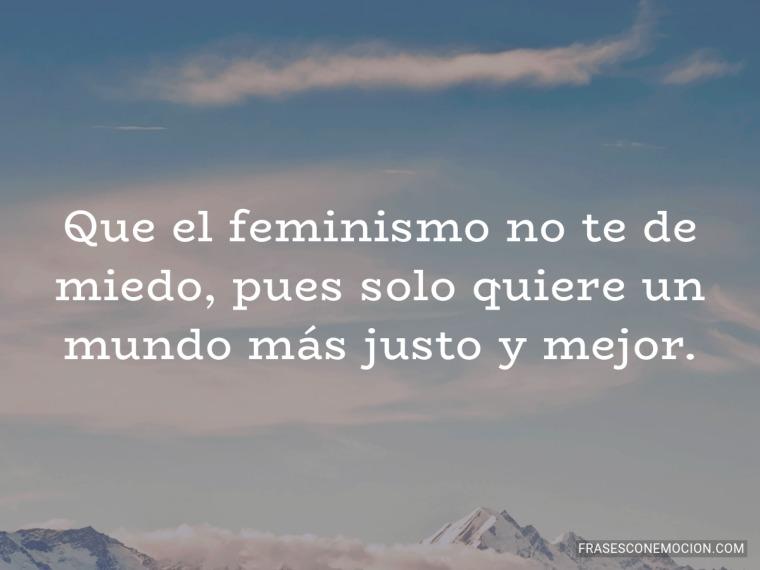 Que el feminismo no...