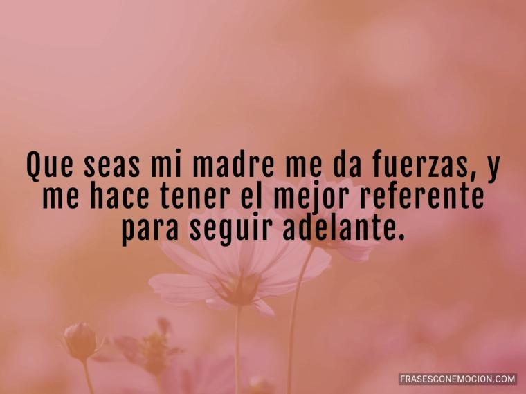 Que seas mi madre me...