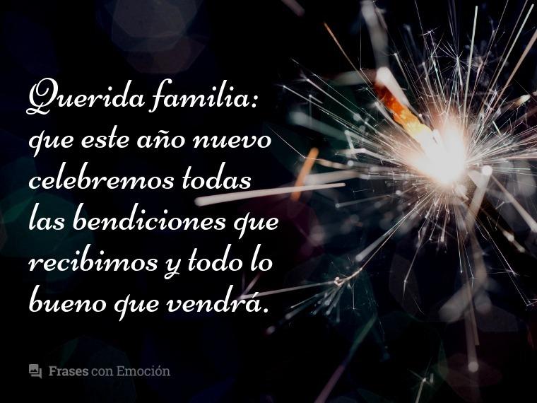 Querida familia...