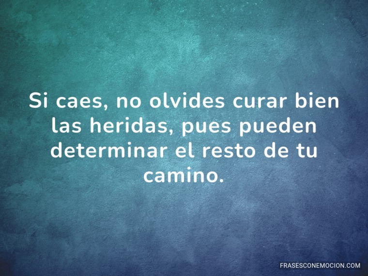 Si caes no olvides...