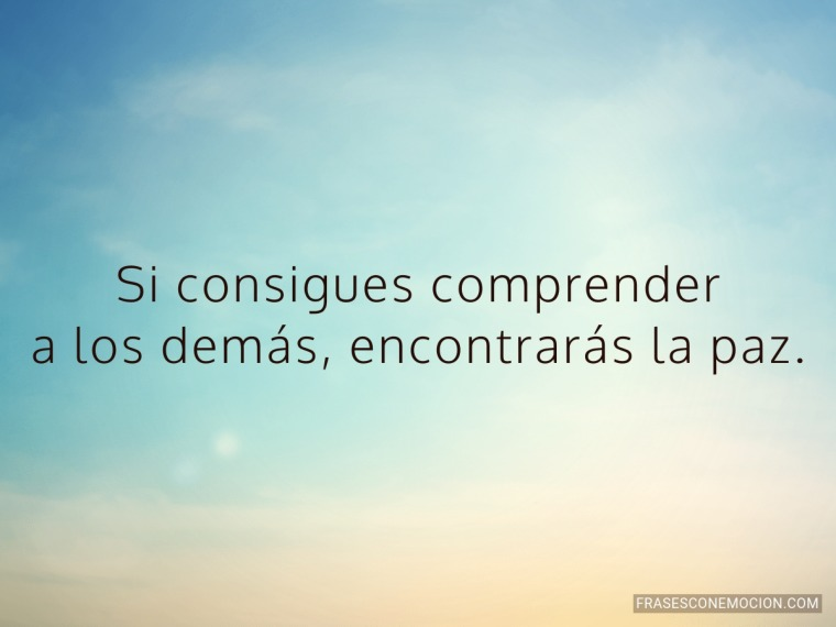 Si consigues comprender...