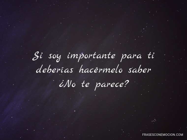 Si soy importante...