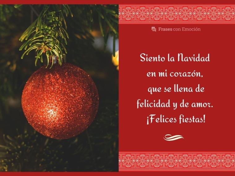Siento la Navidad en mi corazón...