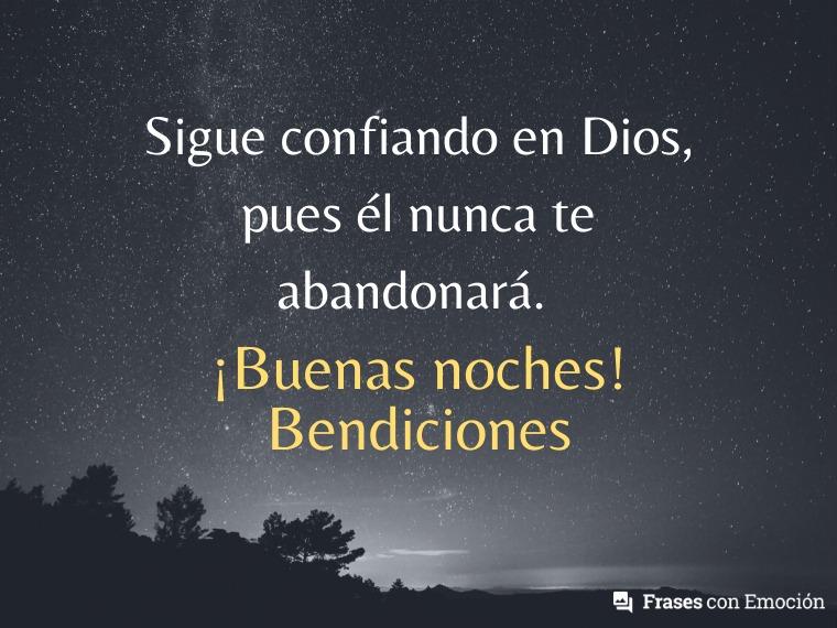 Sigue confiando en Dios...