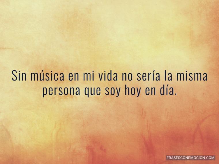 Sin música en mi vida...