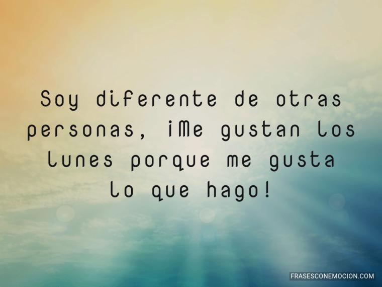 Soy diferente de otras personas...