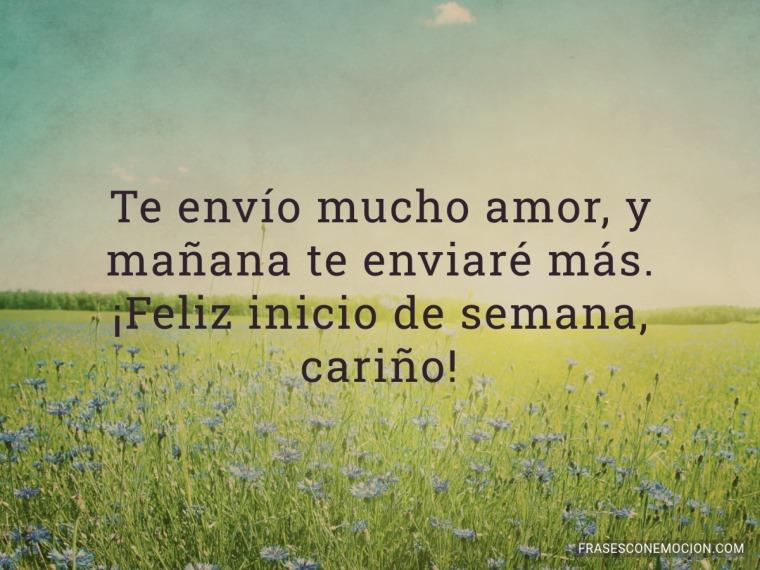 Te envío mucho amor...