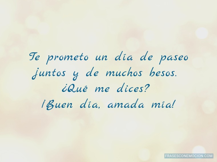 Te prometo un día...