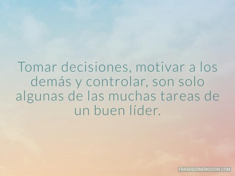 Tomar decisiones...