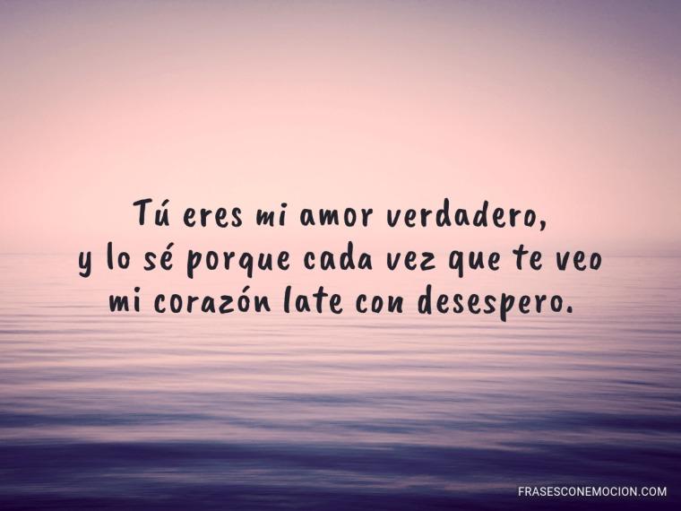 Tú eres mi amor verdadero...