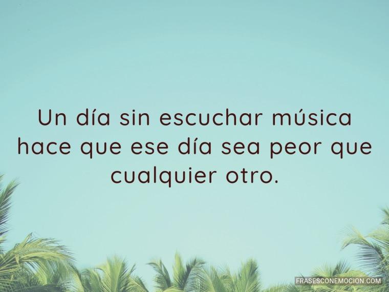 Un día sin escuchar música...