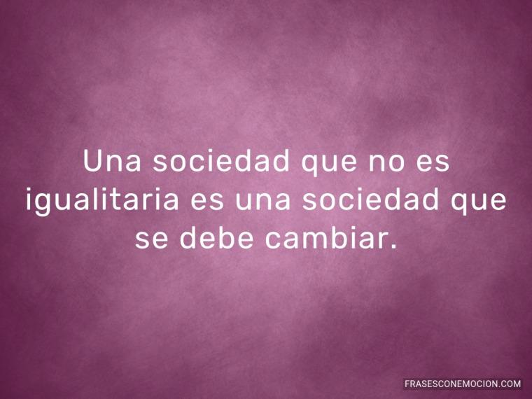 Una sociedad que no es...
